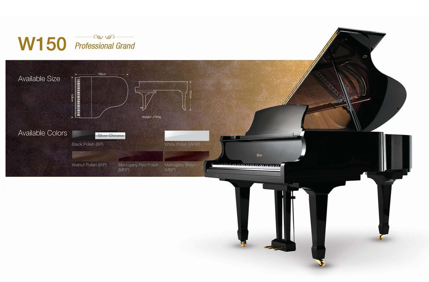 Pianos for sale hire london hampstead piano services Size of baby grand piano